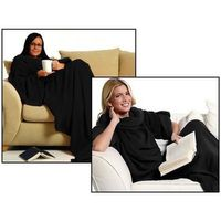 Vivyan Giyilebilir Kollu Battaniye - Siyah
