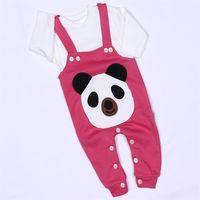 Pandalı Düğmeli Slopet Kız Bebek Tulum