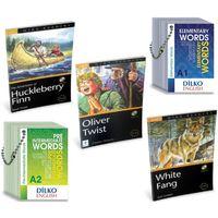 Level 1 İngilizce Hikaye Seti + Kelime Kartları A1-A2