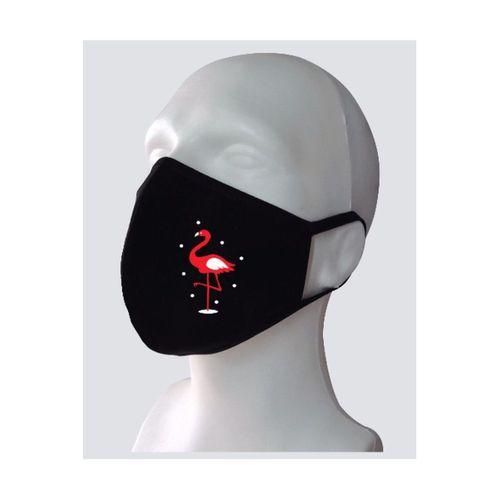 Flamingo Baskılı Yıkanabilir Rahat Çift Kat Kumaş %100 Pamuk Yüz Maskesi