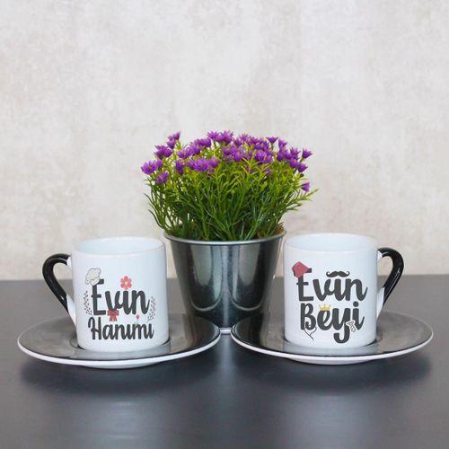 Evin Hanımı Evin Beyi Fincan Takımı