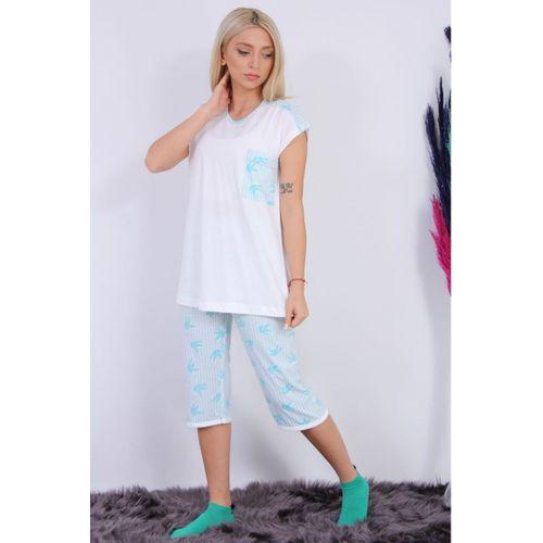 Turkuaz Cepli Pijama Takımı