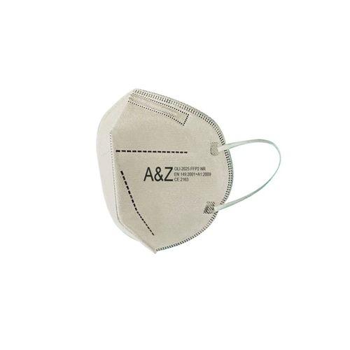 A&Z Med N95 Maske Telli ve Tek Tek Paketli 10 Adetlik 1 Kutu - Toplam 10 Adet Maske - Açık Bej