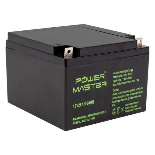 AKÜ 12 VOLT 26 AMPER POWERMASTER ( 165 X 176 X 125 MM )