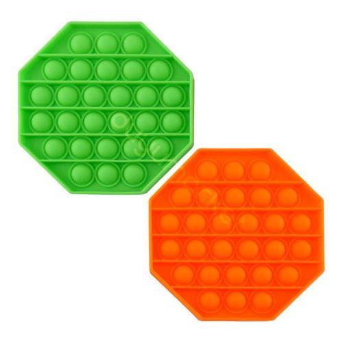 Sekizgen Tek Renk Pop Push İt Anti Stres Baloncukları Bubble Fidget
