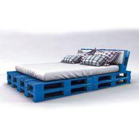 palet yatak mavi