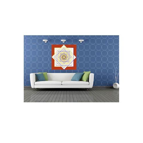 Geometrik Soyut Tasarım Kanvas Tablo 70x70 cm