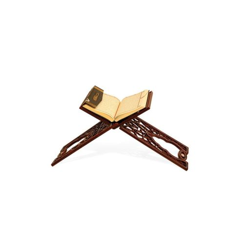 Kahverengi Rahle Plastik Taşlı Katlanır Kitaplık