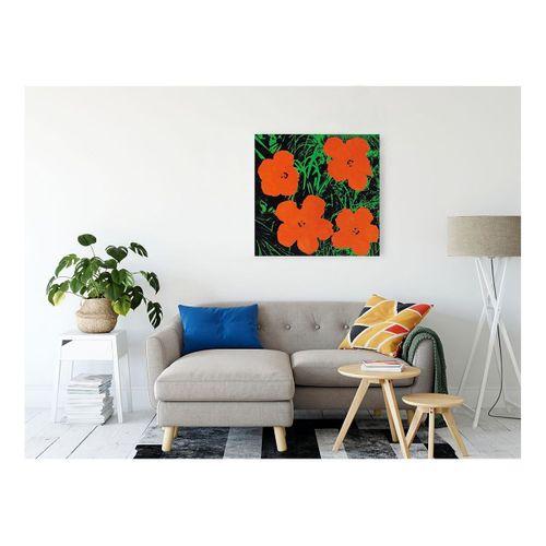 Andy Warhol Flowers Kanvas Tablo 70x70 cm