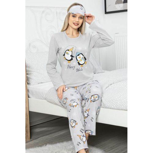 Bayan Uzun Kollu Likralı Pamuk Kadın Pijama Takımı Alt Üst Takım