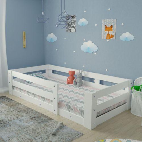 YÜZDE YÜZ MDF Montessori Karyola Beyaz Y19 - 90x190 Yatak Uyumlu -E2006