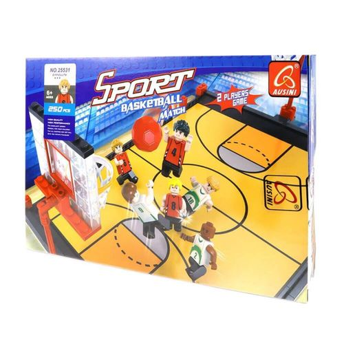 Mega Oyuncak  Ausini Sport Set Çift Pota Basketbol 250 Parça Mini Lego