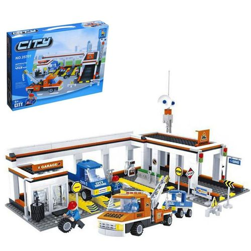 Mega Oyuncak  Ausını 443 Parça Araç Tamir İstasyonu Lego Oyun Seti