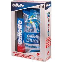 Gillette Blue2 Özel Paketi 4lü Tıraş Bıçağı 200 ml Tıraş Köpüğü