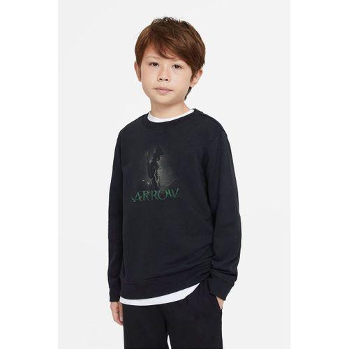 Arrow Baskılı Unisex Çocuk Siyah T-shirt