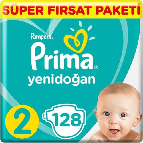 Prima Bebek Bezi 2 Beden Mega Fırsat 128 Adet