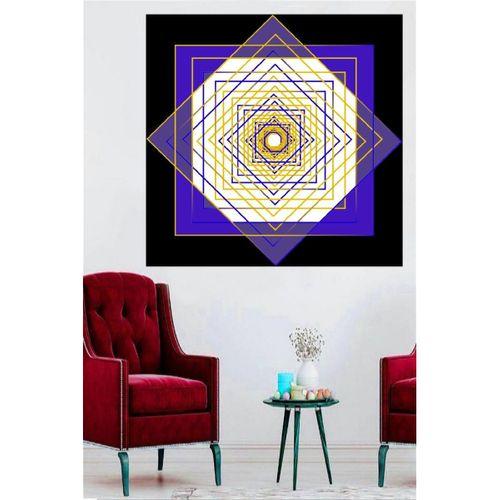 Geometrik Soyut Tasarım Kanvas Tablo 80x80 cm