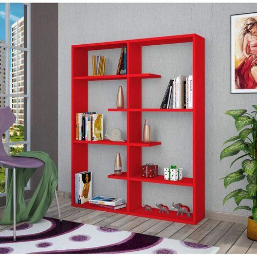 Step Kitaplık Kırmızı
