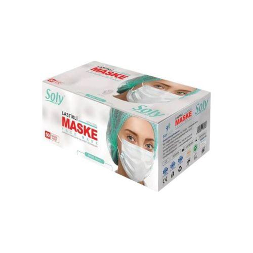 Care 3 Katlı Cerrahi Telli Full Ultrasonik Maske 10 Paket 500 Adet Maskee07