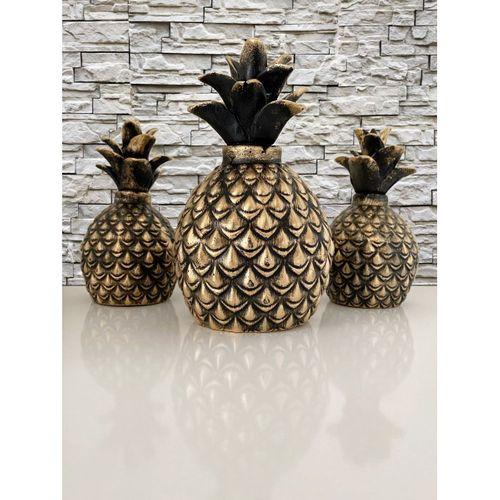 Ananas Biblo 3 lü Set Siyah - Valide Sultan