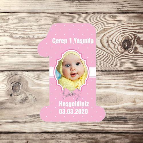 Resim Baskılı 1 Şeklinde Doğum Günü Magneti ( 50 Adet ) MODEL 3