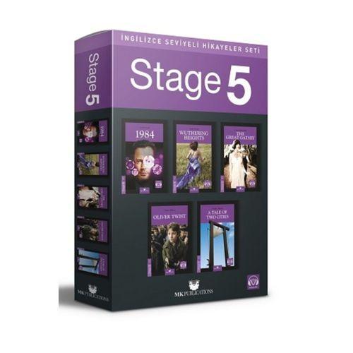 İngilizce Hikaye Seti Stage 5 Kutulu Set 5 Kitap + Ses Dosyaları Kelime Kartı