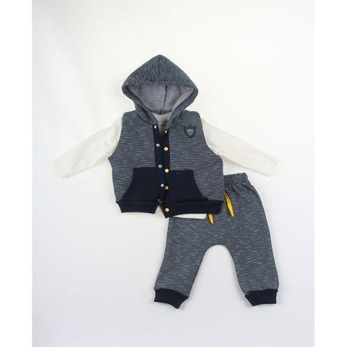 Erkek Bebek 3Lü Armalı Yelekli Takım