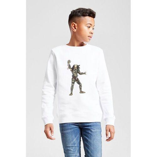 Predator City Hunter    Baskılı Unisex Çocuk Beyaz Sweatshirt