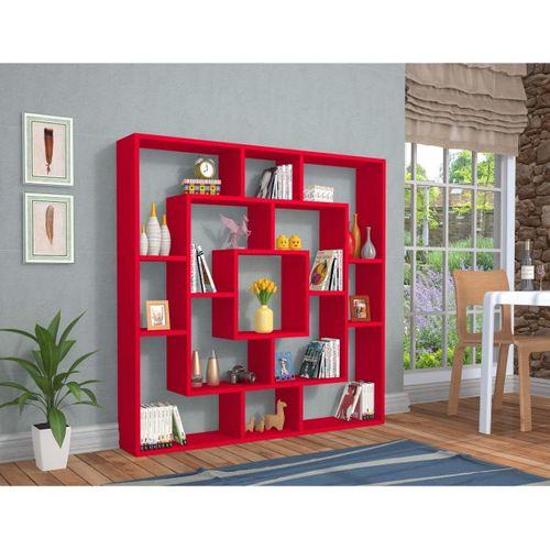 Frame Kitaplık Kırmızı