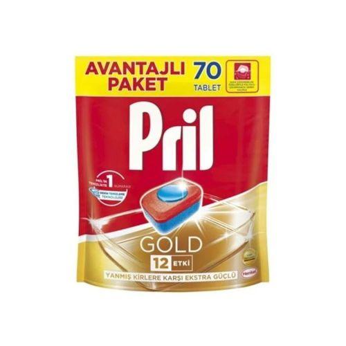 Pril Gold 12 Etki Bulaşık Makinesi Deterjanı 70 Tablet