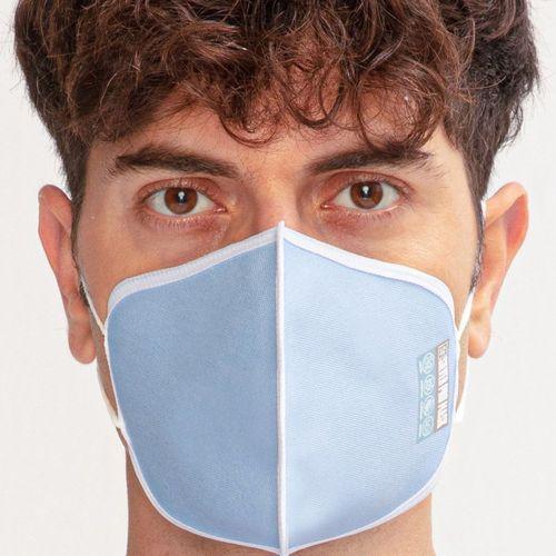 Akıllı Silver Pro Maske Saf Gümüşlü Yıkanabilir Mavi Maske