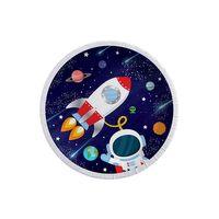 Kozmik Galaksi Temalı Karton Tabak Astronot Baskılı 23CM 8 li