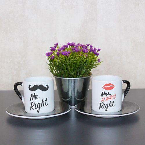Mr. Right Mrs. Right Always Right Fincan Takımı
