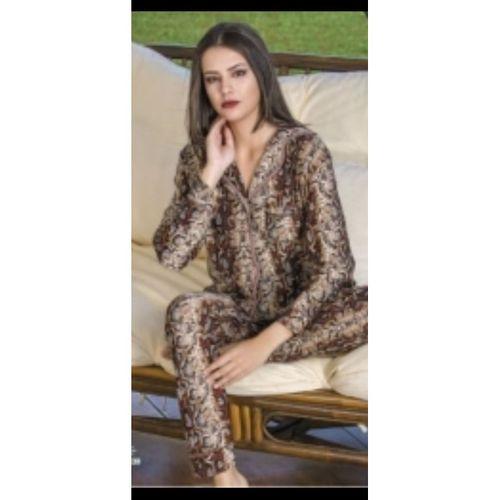Teknur Desenli Bayan Pijama Takımı Lüx
