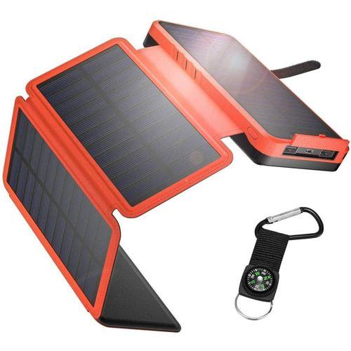 IEsafy Solar Charger 26800mAh, Outdoor Solar Power Bank