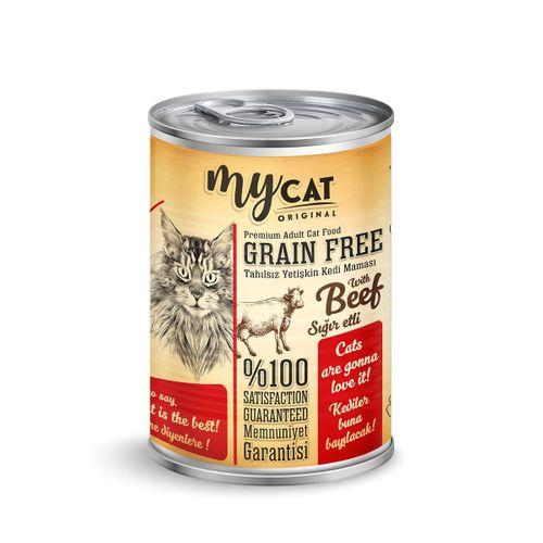 mycat tahılsız sığır etli kedi konservesi
