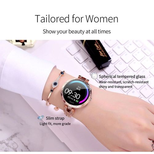 Moda Akıllı Saat Su Geçirmez Smartwatch Gold