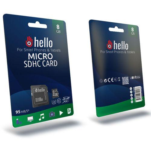 HELLO 8 GB MICRO SD HAFIZA KARTI ( CLASS 10 )