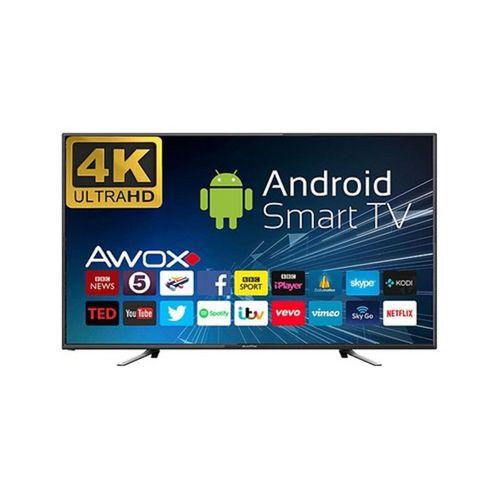 """AWOX U5100STR/4K/S 50"""" Çerçevesiz, 126cm,  4K Ultra HD, Dahili Uydu Alıcılı, Smart Led Televizyon"""