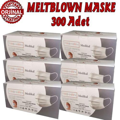 Taş-Han MELTBLOWN Cerrahi Maske %94 Filtrasyon İhraç Ürünü 300 Ad