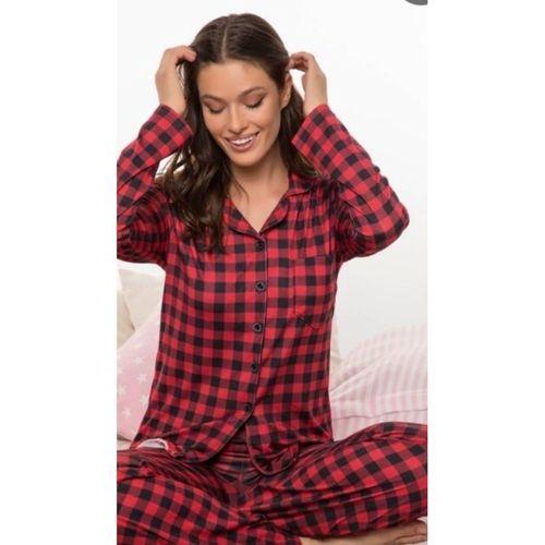 Kadın Kırmızı Pijama Takımı