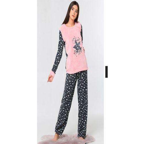 Yıldız Desenli polar pijama