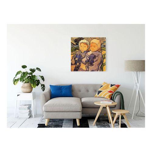 Vincent Van Gogh Two Children Kanvas Tablo 70x70 cm