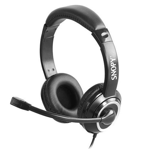 Snopy SN-X4 X-ZOOM Siyah PC-Telefon Mik. Kulaklık