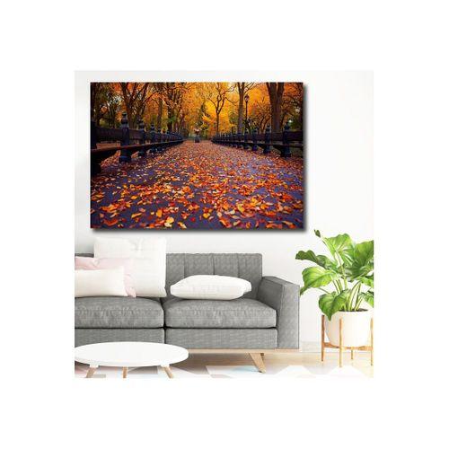 Orman İçerisinde Sonbahar Manzarası Kanvas Tablo  60 x 80 cm