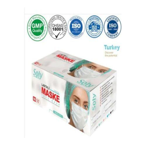 Care Tek Kullanımlık Üç Katlı Cerrahi Maske Telli 2'li (100 Adet) Ymr01