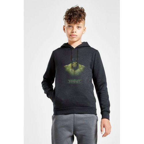 Hulk Baskılı Unisex Çocuk Kapüşonlu Siyah Sweatshirt
