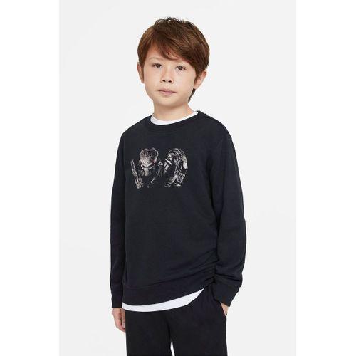 AVP Alien Baskılı Unisex Çocuk Siyah T-shirt