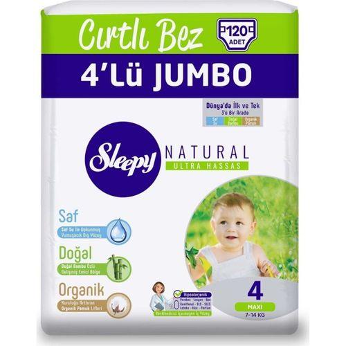 Sleepy Bebek Bezi 4 Numara 4lü Jumbo 120LI