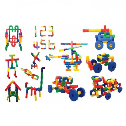 King Kids Tekerlekli Boru Lego 72 Parça